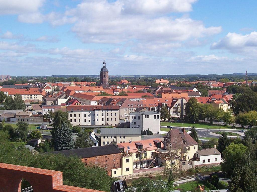 Stadtzentrum Eilenburgs vom Burgberg aus gesehen