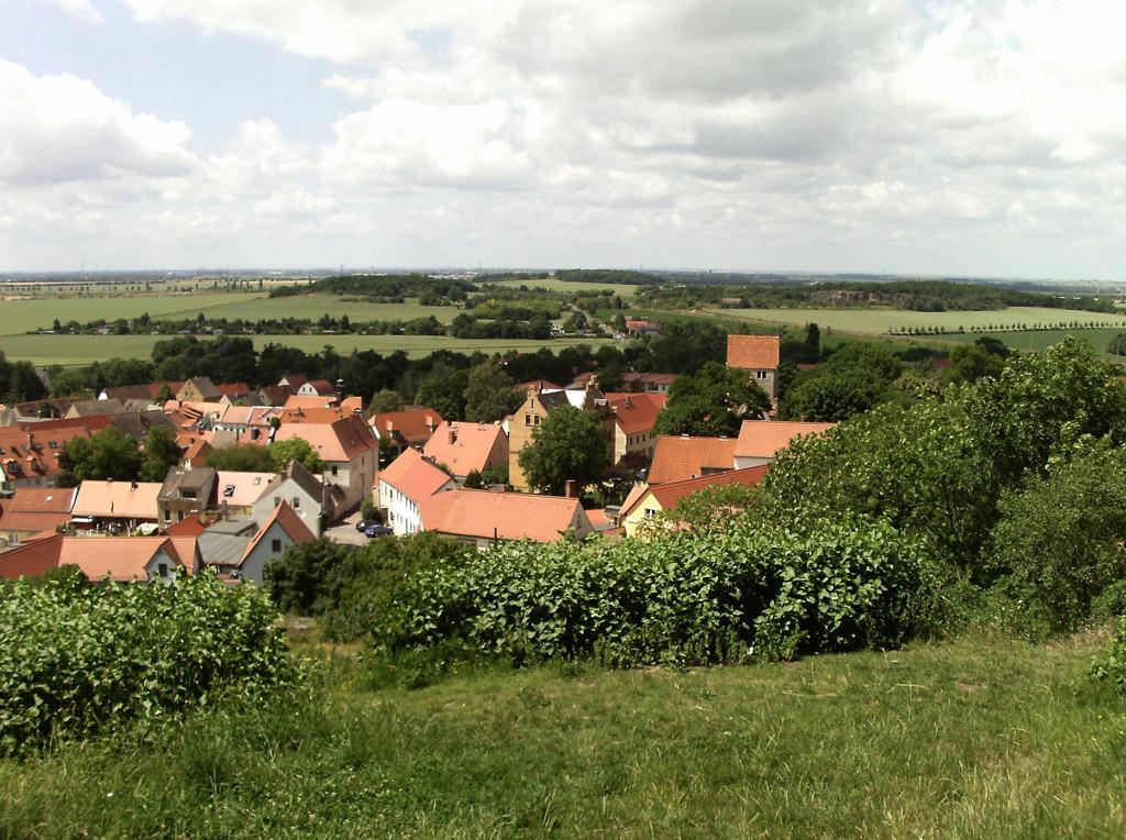 Blick auf Landsberg vom Kapellenberg